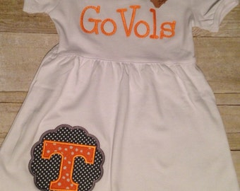 Tennessee Vol Power T Tennessee Vols Go Vols Toddler Girls Dress