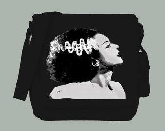Bride of Frankenstein Canvas Messenger Bag, 15x11x4