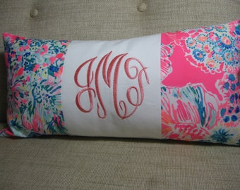 """Lilly Pulitzer Accent Pillow 10""""x20""""(Gypsea)INSERT INCLUDED/Preppy /Dorm Bedding/Nursery Gift/Sorority/Girls Room"""