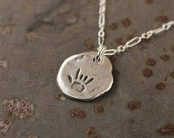 I love you sign language sterling silver