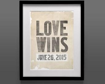 Original Art Print, Instant Download, LGBT, Lesbian, Equality, Gay, Vintage Poster, 11x17