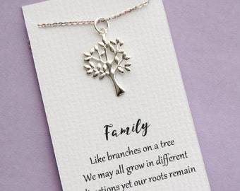 Tree Necklace, Family Jewelry, Silver Tree of Life Jewelry
