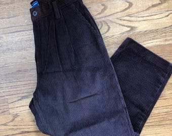 Highwaisted Chocolate Brown Cords