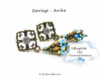 PDF full color instructions/ Anika earrings