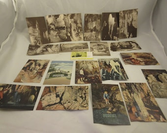 20 Unposted 1940's Cave of the Mounds, Blue Mounds Wisconsin Vintage Souvenir Travel Postcards