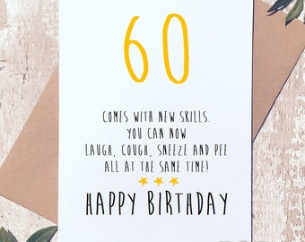 Funny 60th card etsy funny 60th birthday card sixty card funny birthday card card for him bookmarktalkfo Choice Image