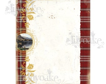 Country Red Tartan panel Card