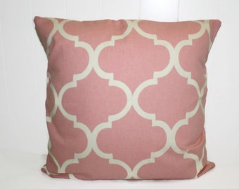 Pink Decorative Throw Pillow, Richloom Bishop Pink Pillow Cover