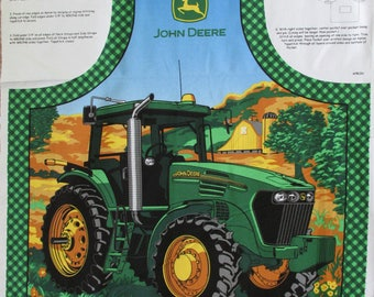 John Deere Apron Fabric Panel Cotton Canvas Roughly 36 X 44 Tractor Bar