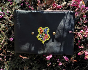 HOGWARTS Clutch in black leather