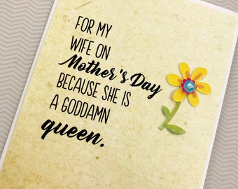 Mother's Day Wife Queen card