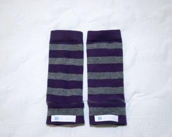 Purple & Gray Stripe Baby Leg Warmers | Baby Leggings | Toddler Leggings | Baby Gifts | Leggings | Baby Pants | Gender Neutral