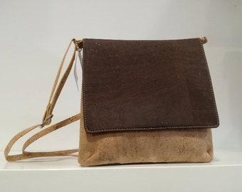 Cork Handbag - Natural Cork Bag with Designs - Cork Purse - Fine Cork Bag - Eco-friendly Shoulder Bag - 100% Genuine Natural Cork