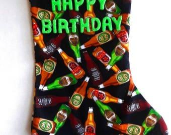 Beer Bottles Birthday Stocking 2