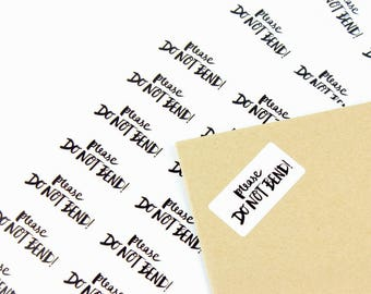 Packaging stickers ' please do not bend' - mail stickers - post labels - envelope stickers - envelope seals - shipping labels
