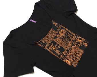Egyptian Print Knit Mini Dress Handmade Bohemian OOAK Small Medium