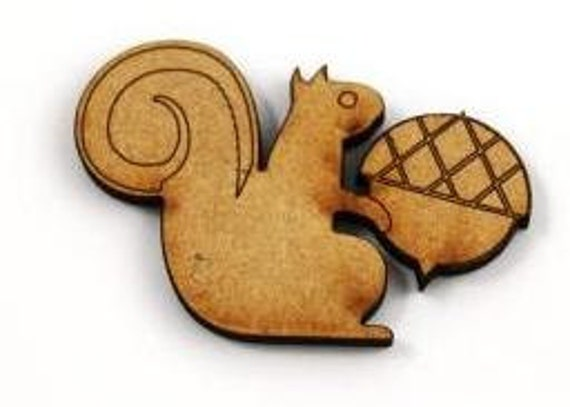 Laser Cut Supplies- 1 Piece. Squirrel Charms-Acrylic and Wood Laser Cut -Jewellery Supplies- Little Laser Lab Wood and Acrylic Products