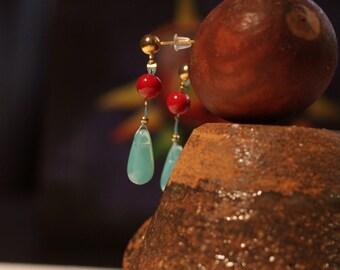 Hauru earrings howl's moving castle