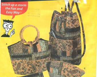 Simplicity 5076 Sewing Pattern for 4 Types of Quilted Bags by Sewing Patterns for Dummies