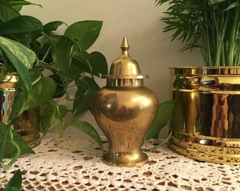 Beautiful solid brass urn