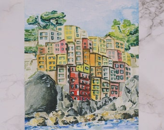 "Cinque Terre | 5""x 7"" 