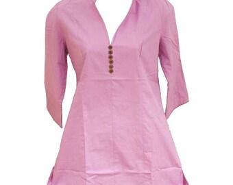 Lilac cotton tunic, fair trade organic cotton