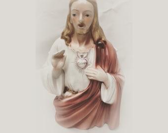 Vintage Jesus planter