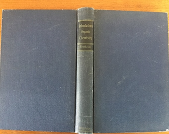 1942, Introductory Organic Chemistry, by E. Wertheim, vintage hardback book, high school college science textbook with study questions