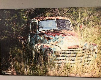 """24'x 36"""" Rusted, Rustic, Forgotten Truck Photograph on Canvas"""