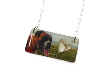 Custom Photo Necklace - Cremation Jewelry | Rainbow Bridge Necklace | Sympathy Gift | Remembrance | Pet Memorial Jewelry | Pet Loss Necklace