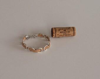 Cork Bracelet, Wine Cork Jewelry, Cork Jewelry, Wine Cork Crafts, Wine Gift, Infinity Bracelet