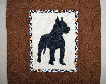 PIT BULL2 - Quilted Dog throw pillow 16 inches