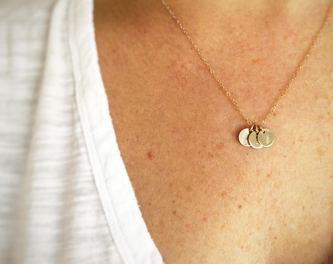 """Featured listing image: """"Tabby"""" Gold Initial Necklace"""