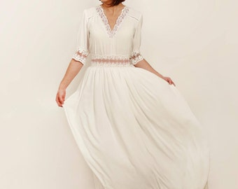 Wedding Dress with Cotton