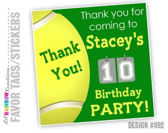 FVTAGS-892: DIY - Tennis Favor Tags Or Stickers