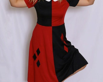 Harley Quinn 1940s inspired dress! With pockets!