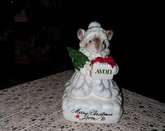 Avon Precious Moments Christmas Mouse