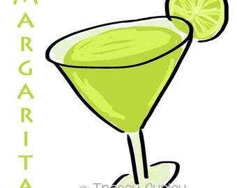 Margarita Illustration Original Art Digital Download. margarita clip art, margarita printable, margarita download