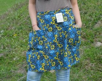 Ladies apron - Woman waist apron - Cotton apron - Cooking apron - Pocket Apron - Vintage apron - New Apron - Cooking Apron - Baking apron