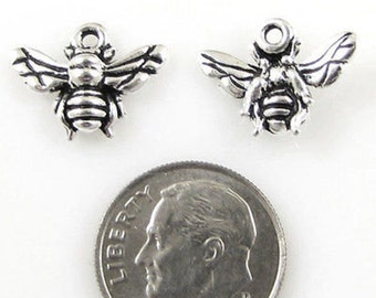 TierraCast Pewter Charms-Antique Silver HONEY BEE (2)