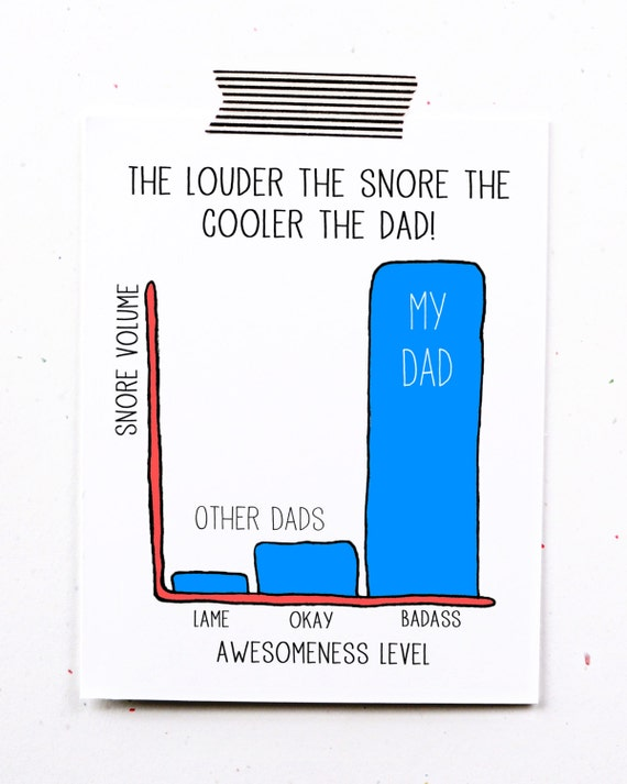 Birthday Card Making Ideas For Dad Part - 45: Funny Fathers Day Greeting Card - Dad Birthday Snores Too Loud My Dad Is  Awesome To Father Dad Funny Husband Blue Little Sloth