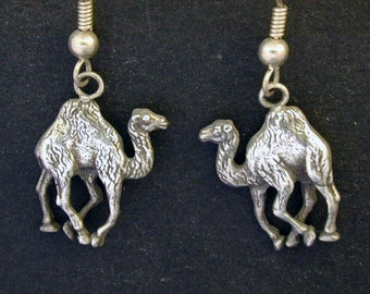 Sterling Silver Camal Earrings on Sterling Silver French Wires