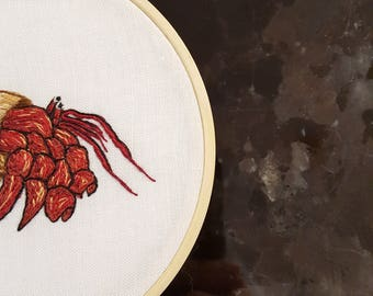 Crab - Hermit Crab - Embroidery