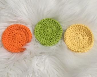 Crocheted Reusable Cotton Face Scrubbies