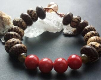 Wooded Coral Bracelet