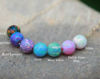 6mm OPAL BEADS - Loose Opals - GIA certified - loose opal beads - choose your color - opals - October gemstome