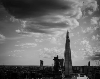 London Skyline Photography Print, Fine art black and white photo print - Images of London