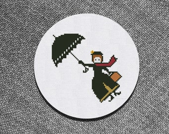 Cross Stitch Pattern Mary Poppins Instant Download PDF Counted Chart