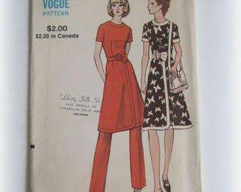 Vintage Vogue 8043 Dress and Pants Pattern Size 12