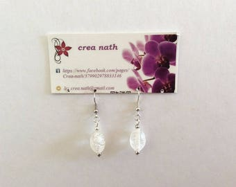 earring type 1 transparent beads